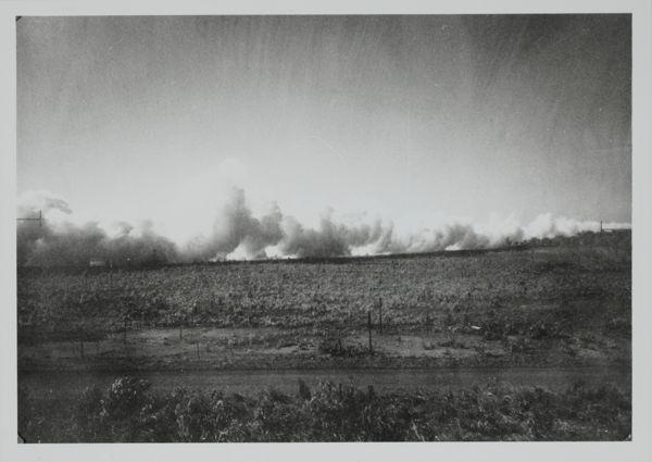 Smoke screen at Batchelor