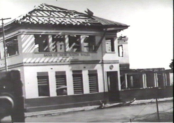Bomb damaged Bank of New South Wales