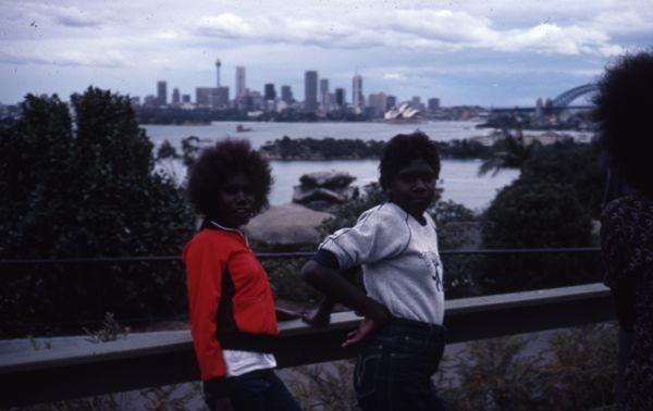 Students with Harbour Bridge