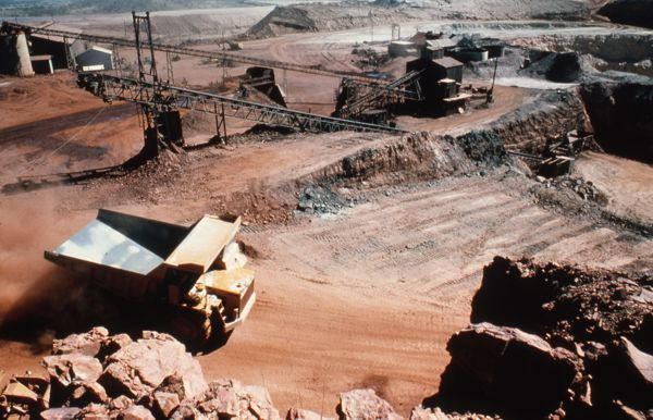 Haul truck at the Tennant Creek mine