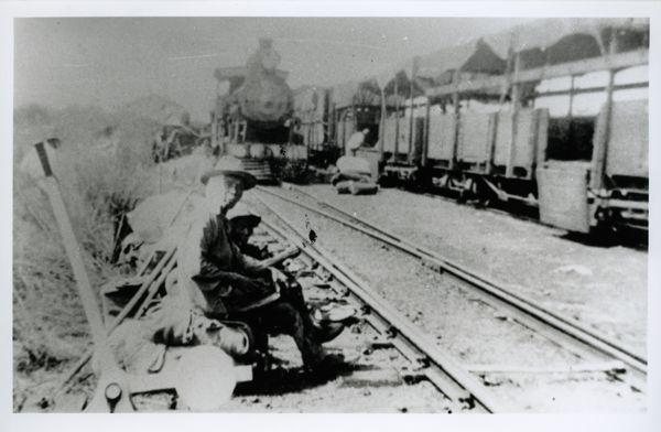 Evacuees at Birdum siding