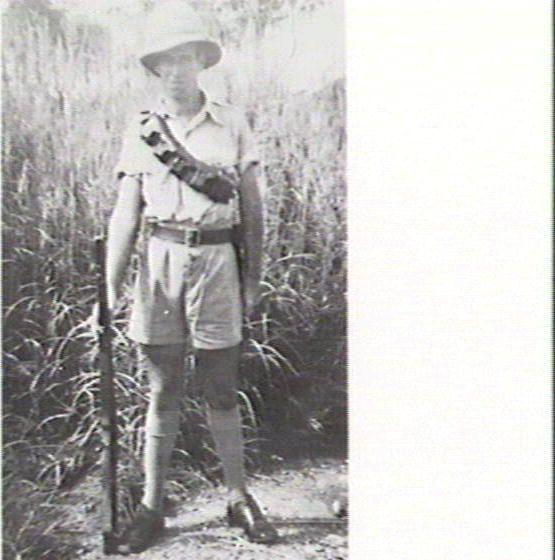 Man in safari outfit
