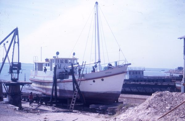 Warawi in dry dock