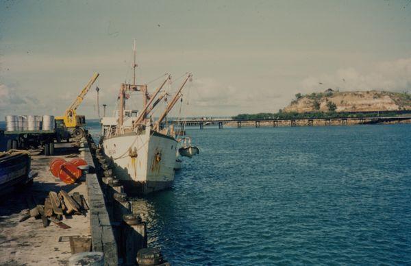 M. V. Melva tied up at Stokes Hill Wharf
