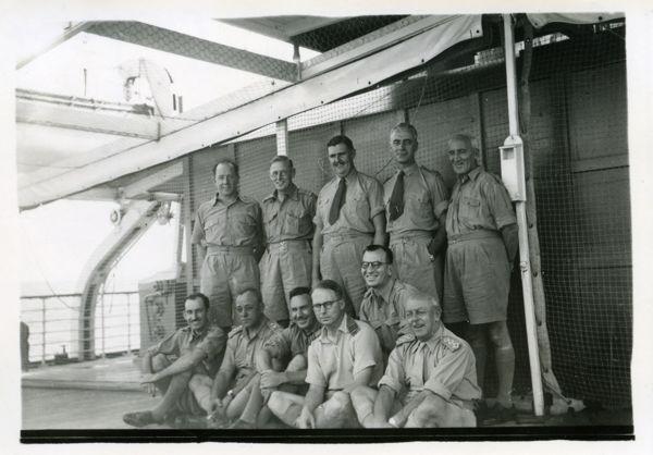 Officers on deck of HMAHS Manunda