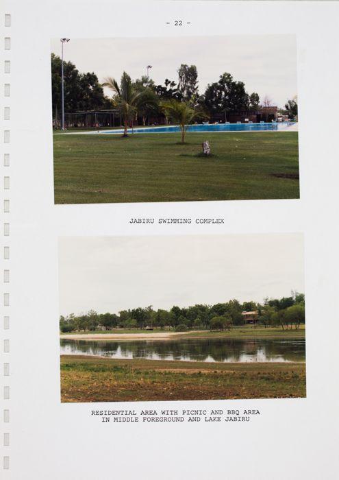 Jabiru tourist caravan park/campground development : background information