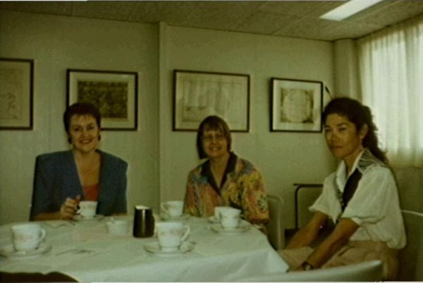 Jenny Armour and others attending a function at the State Reference Library
