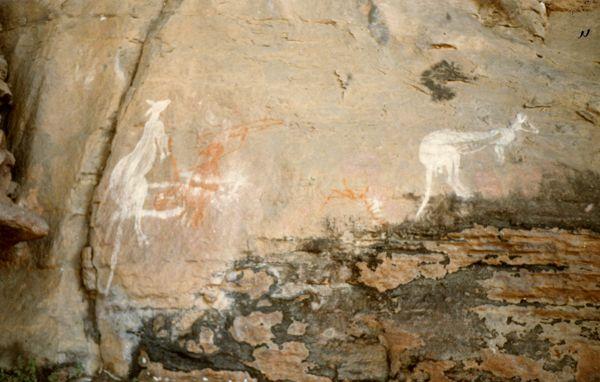 Aboriginal rock art at Nourlangie Rock