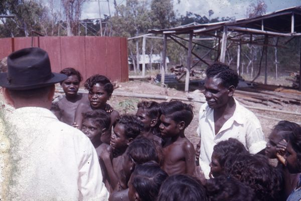 Cecil Gribble arriving in Yirrkala